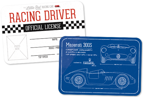 CREATE YOUR OWN: Racing License – FREE!