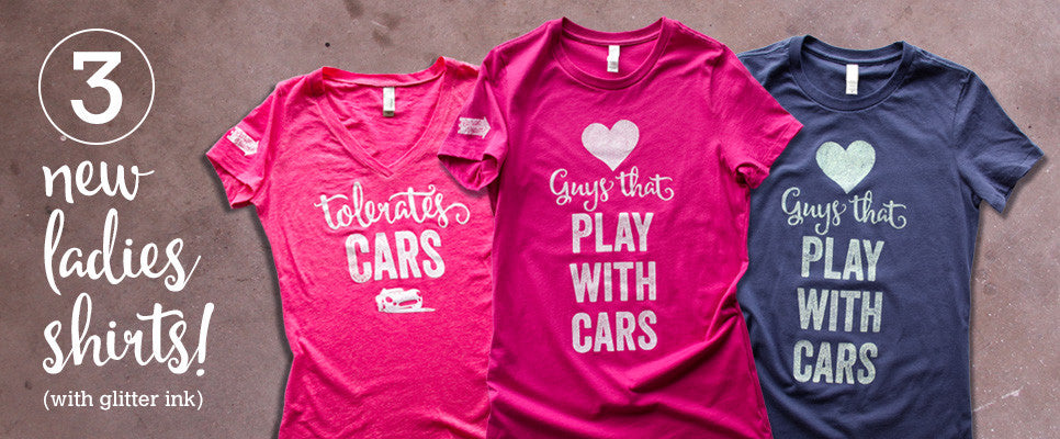 Ladies Tolerates Cars and Love Guys T-shirts