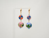 Berry Floral Earrings