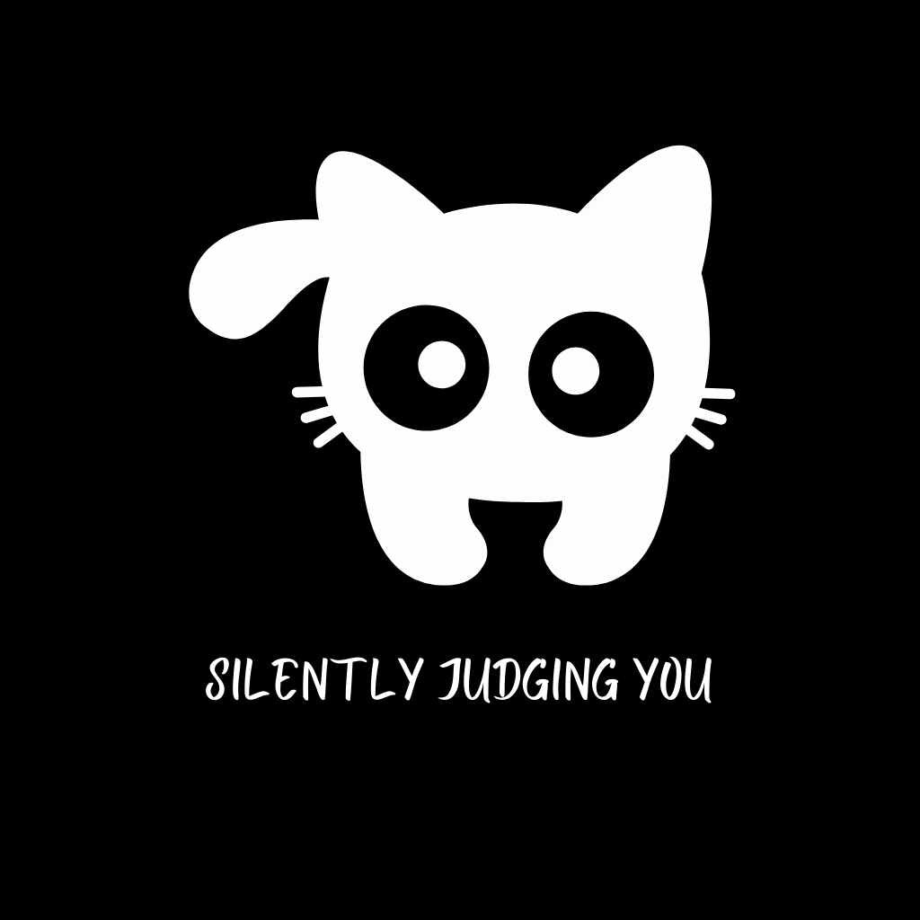 Silently Judging - Happy Meow Meow