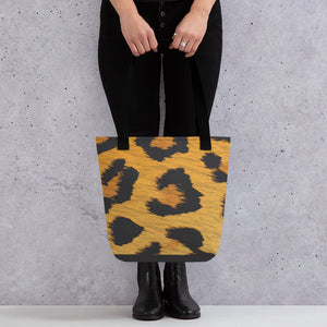 Leopard Tote Bag - Happy Meow Meow