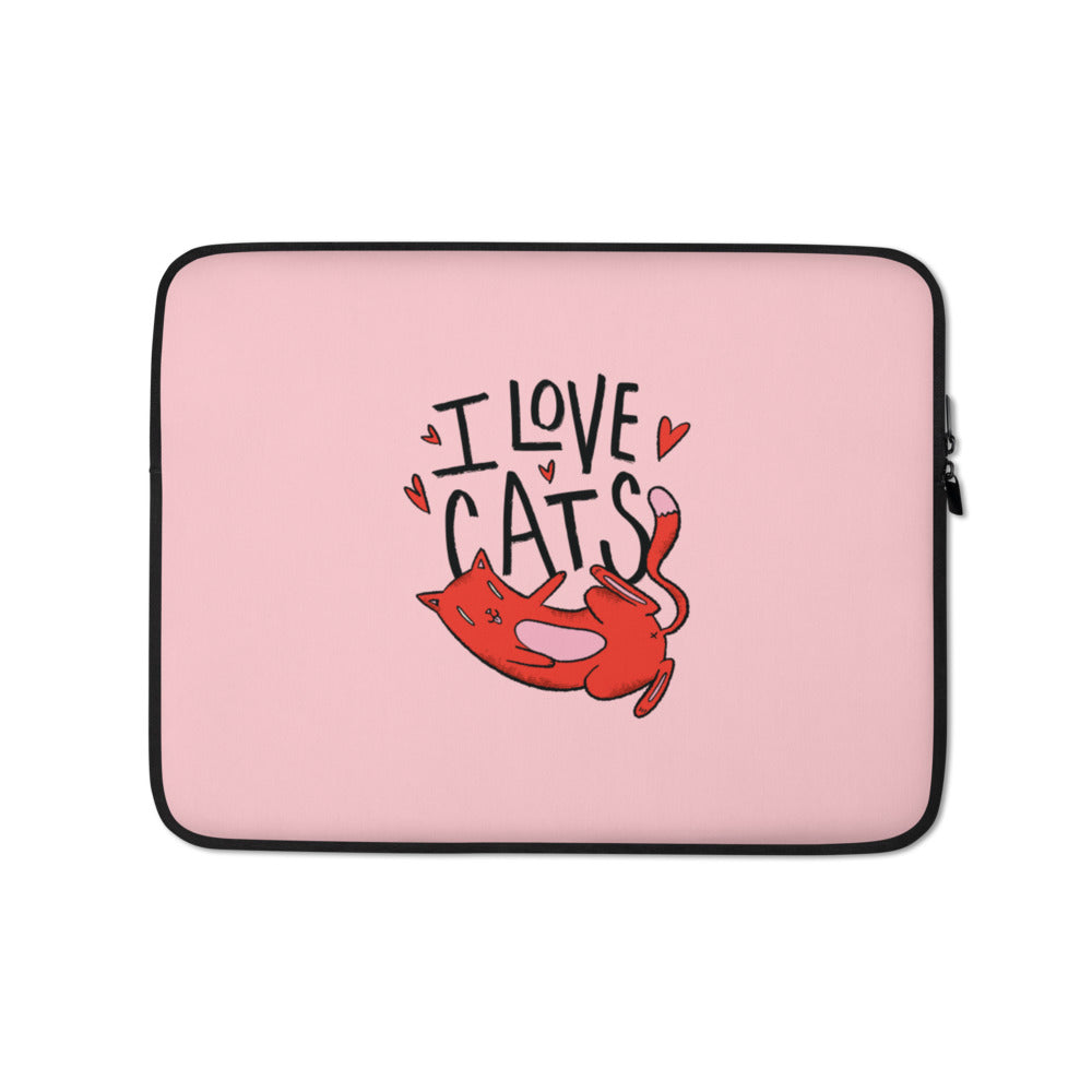 I Love Cats Laptop Sleeve - Happy Meow Meow