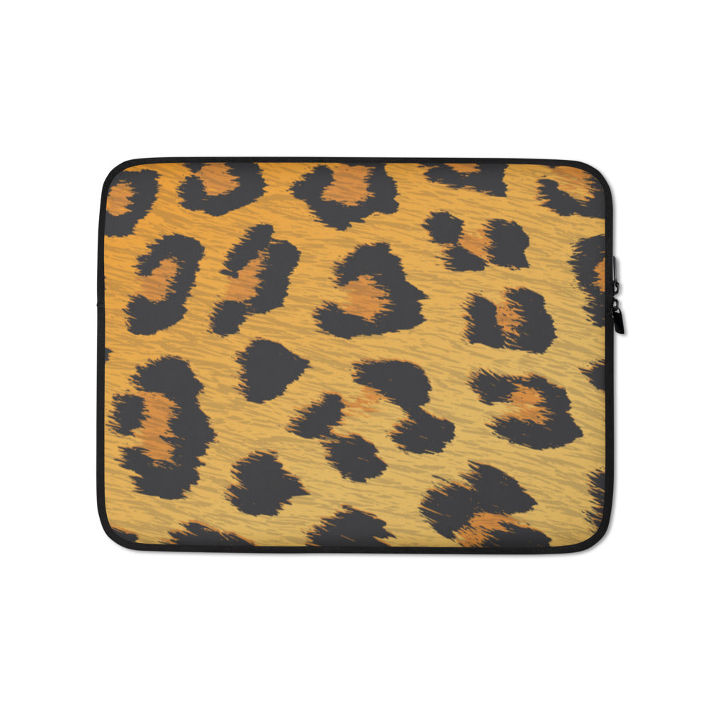 Leopard Laptop Sleeve - Happy Meow Meow