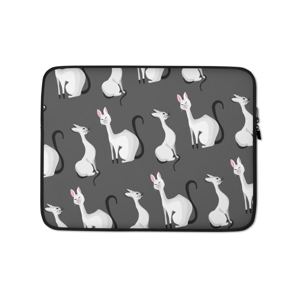 Fancy Cats Laptop Sleeve - Happy Meow Meow