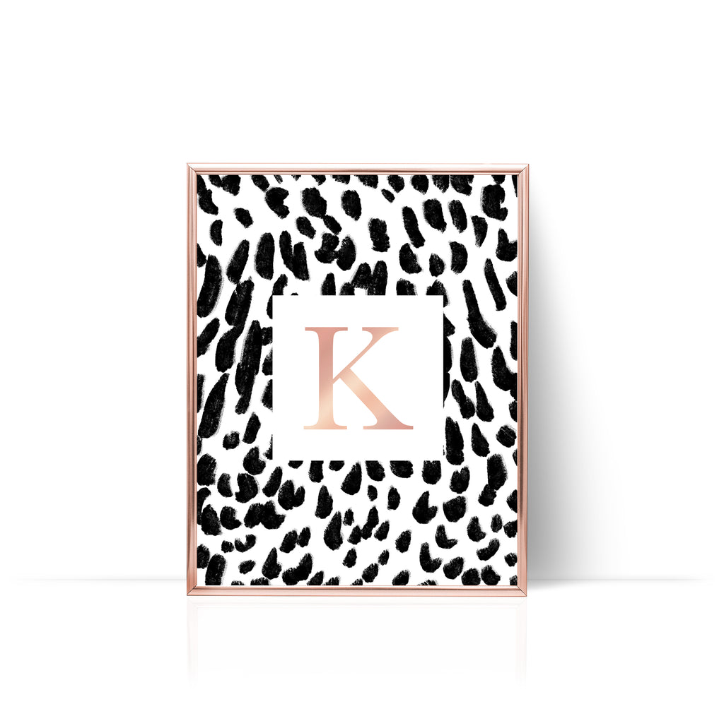 Animal Print Rose Gold Foil