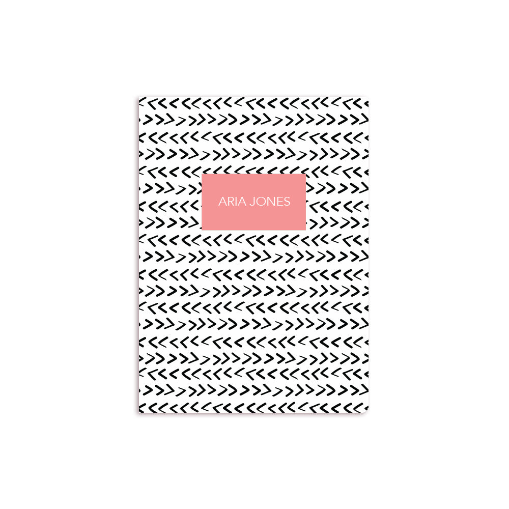 Arrows Notebook Coral