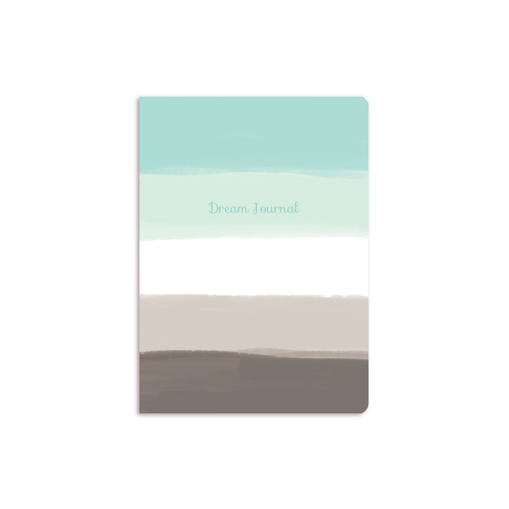 Blue Ombre Notebook Text