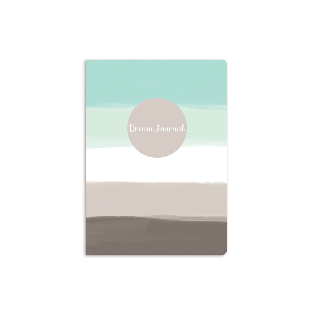 Blue Ombre Notebook Grey Circle
