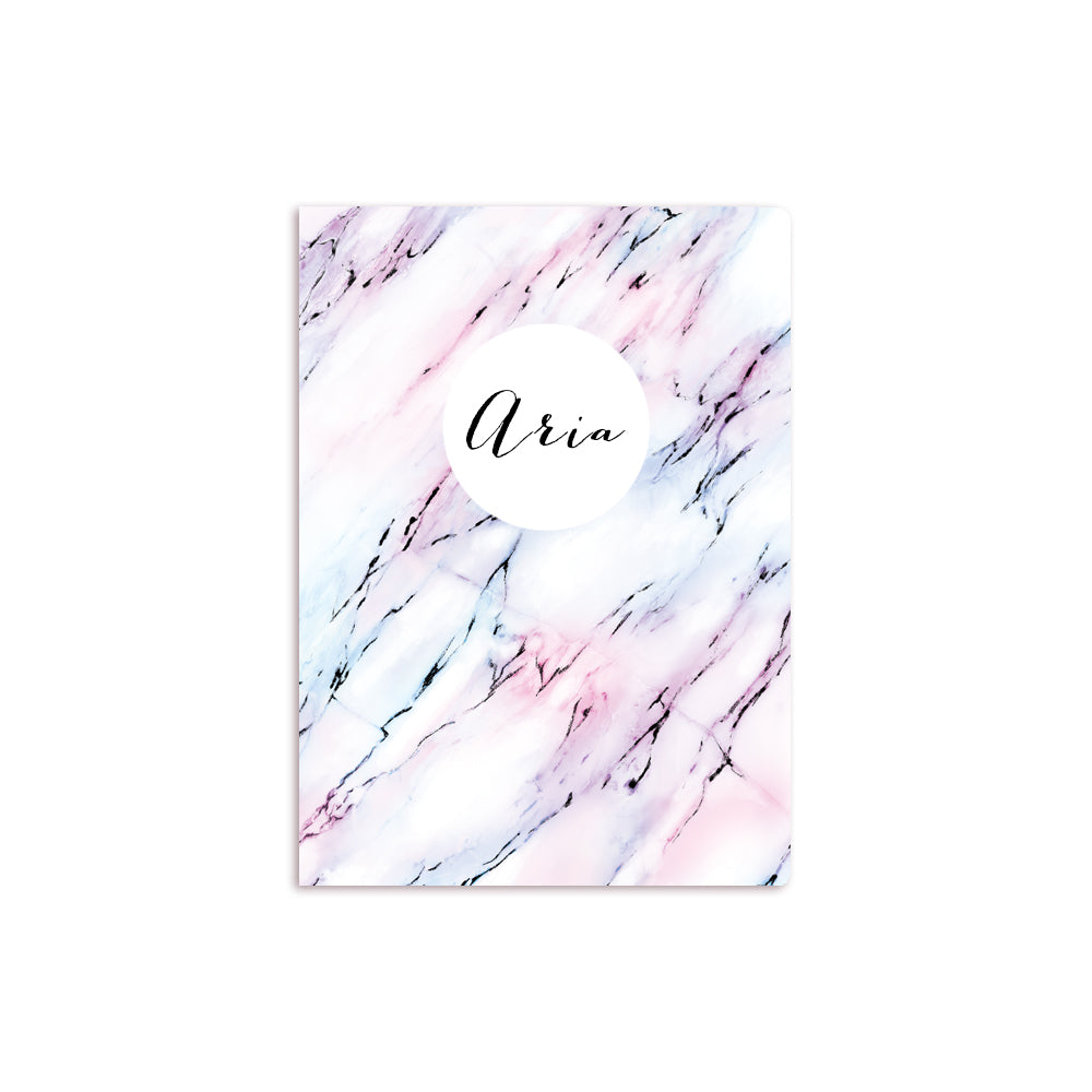 Colored Marble Notebook White