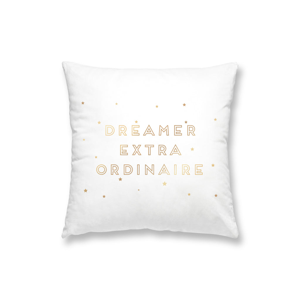 Dreamer Extra Ordinaire Black Gold Foil Pillow