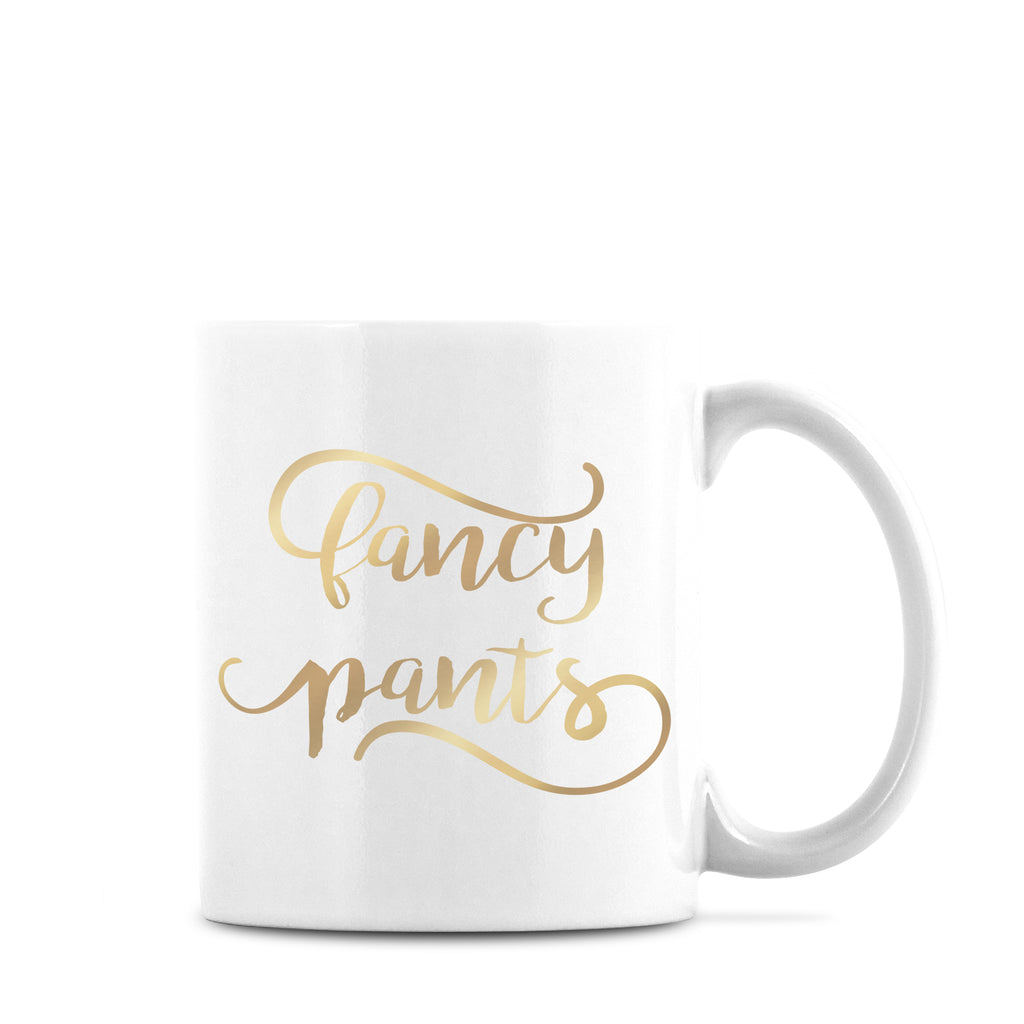 Fancy Pants Mug Gold