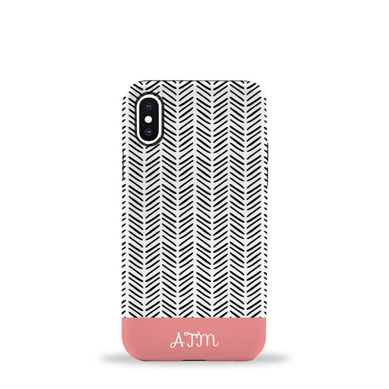 Herringbone Phone Case Coral