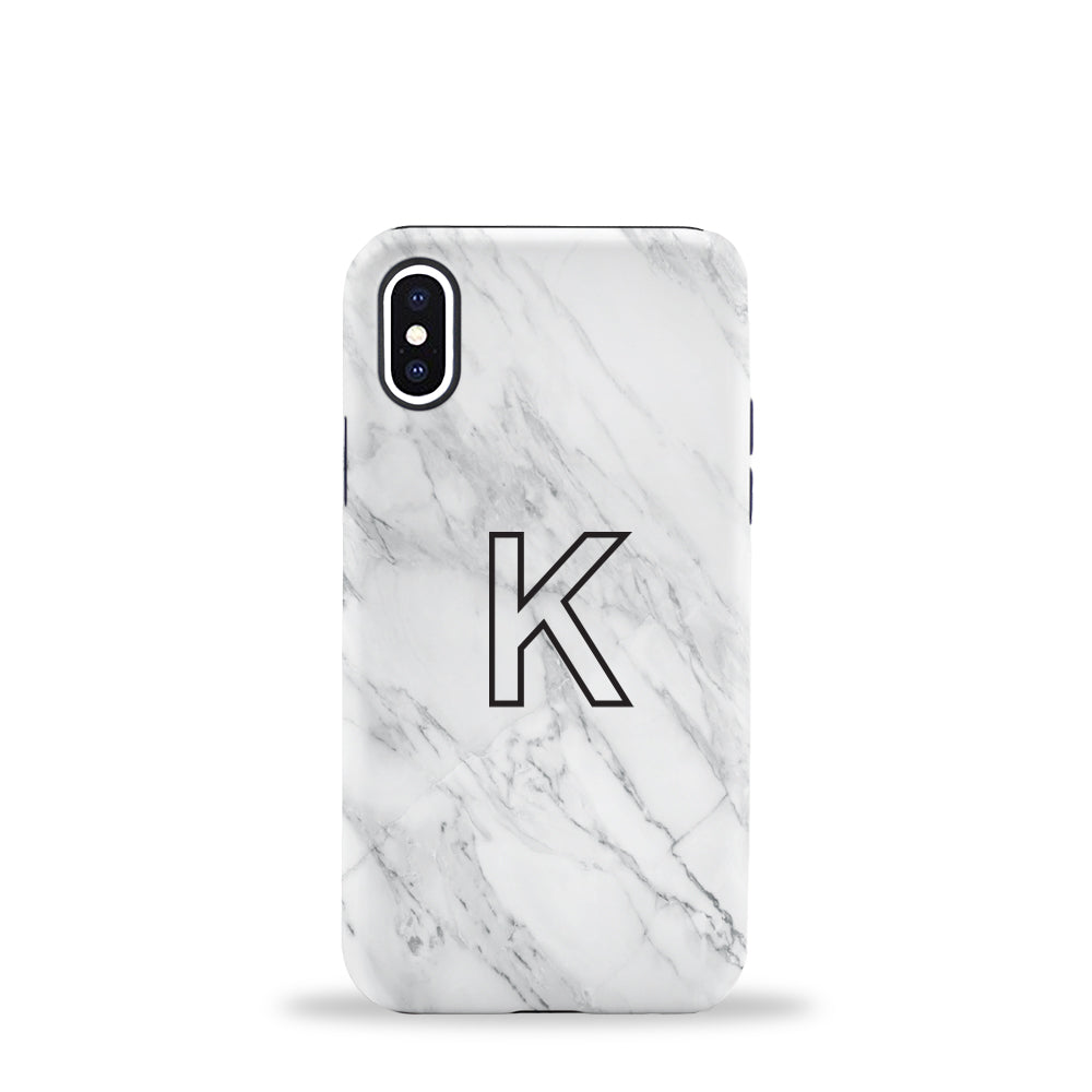 Marble Initial Phone Case