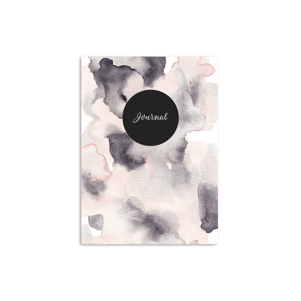 Metallic Wash Notebook Black