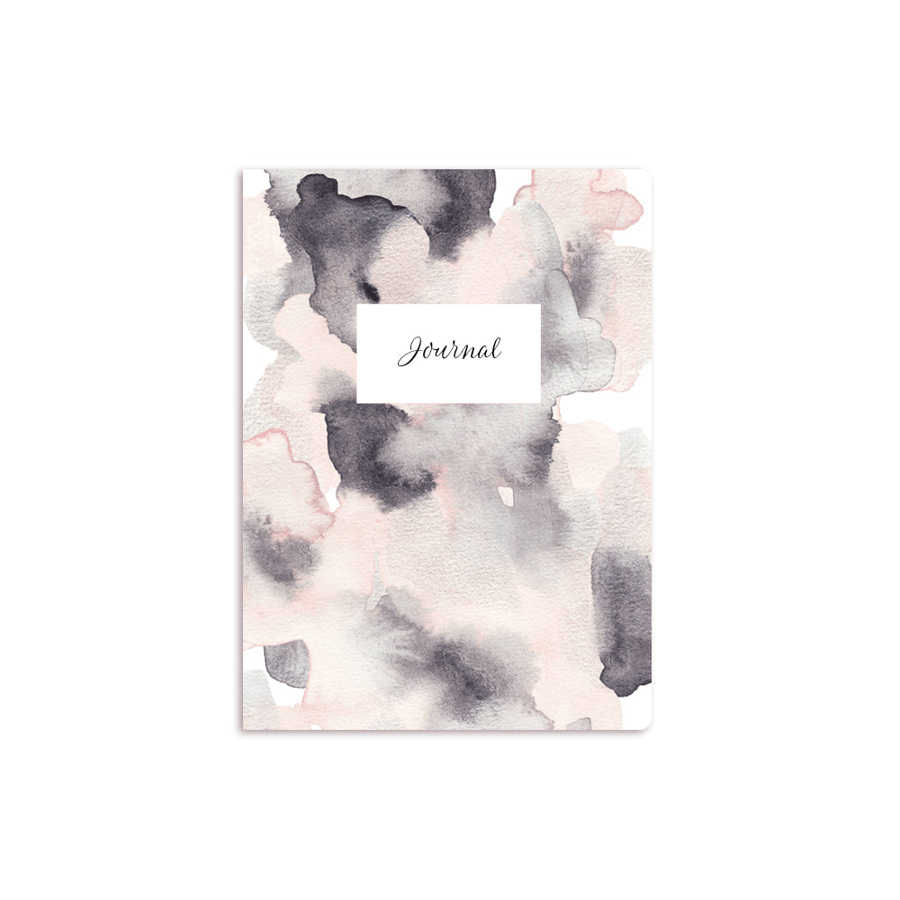 Metallic Wash Notebook White