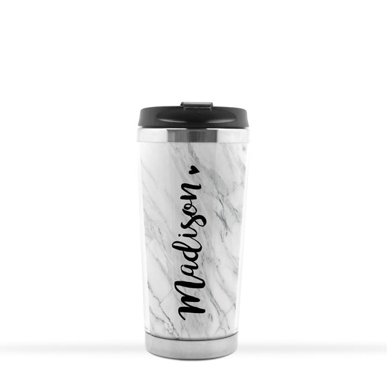 Personalized Marble Travel Tumbler