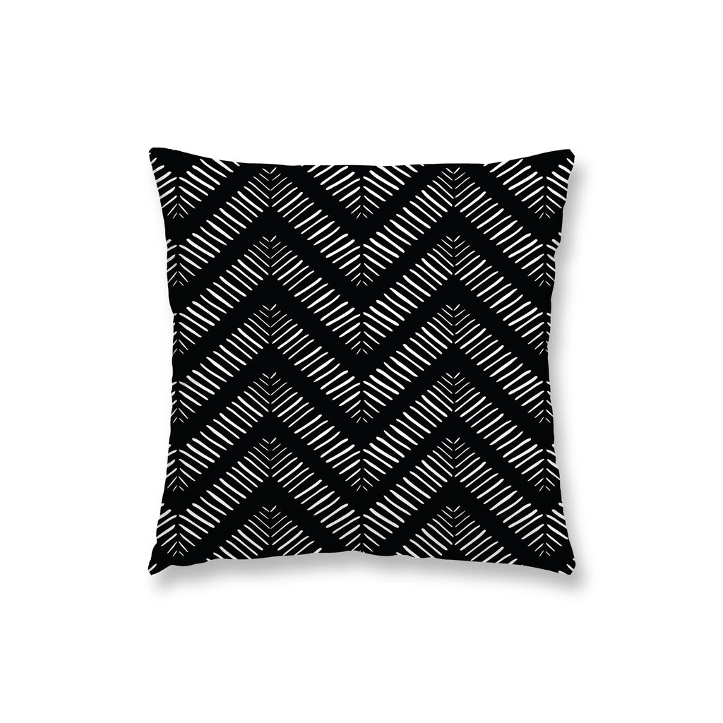 Black Herring Bone Pillow