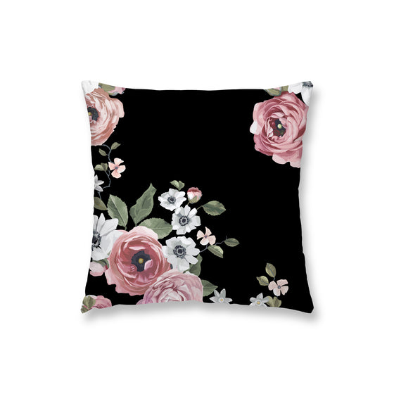 Dark Floral Pillow