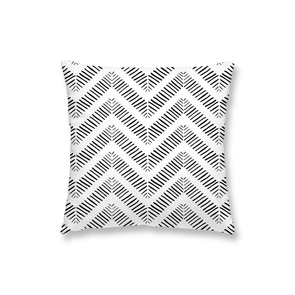 White Herring Bone Pillow