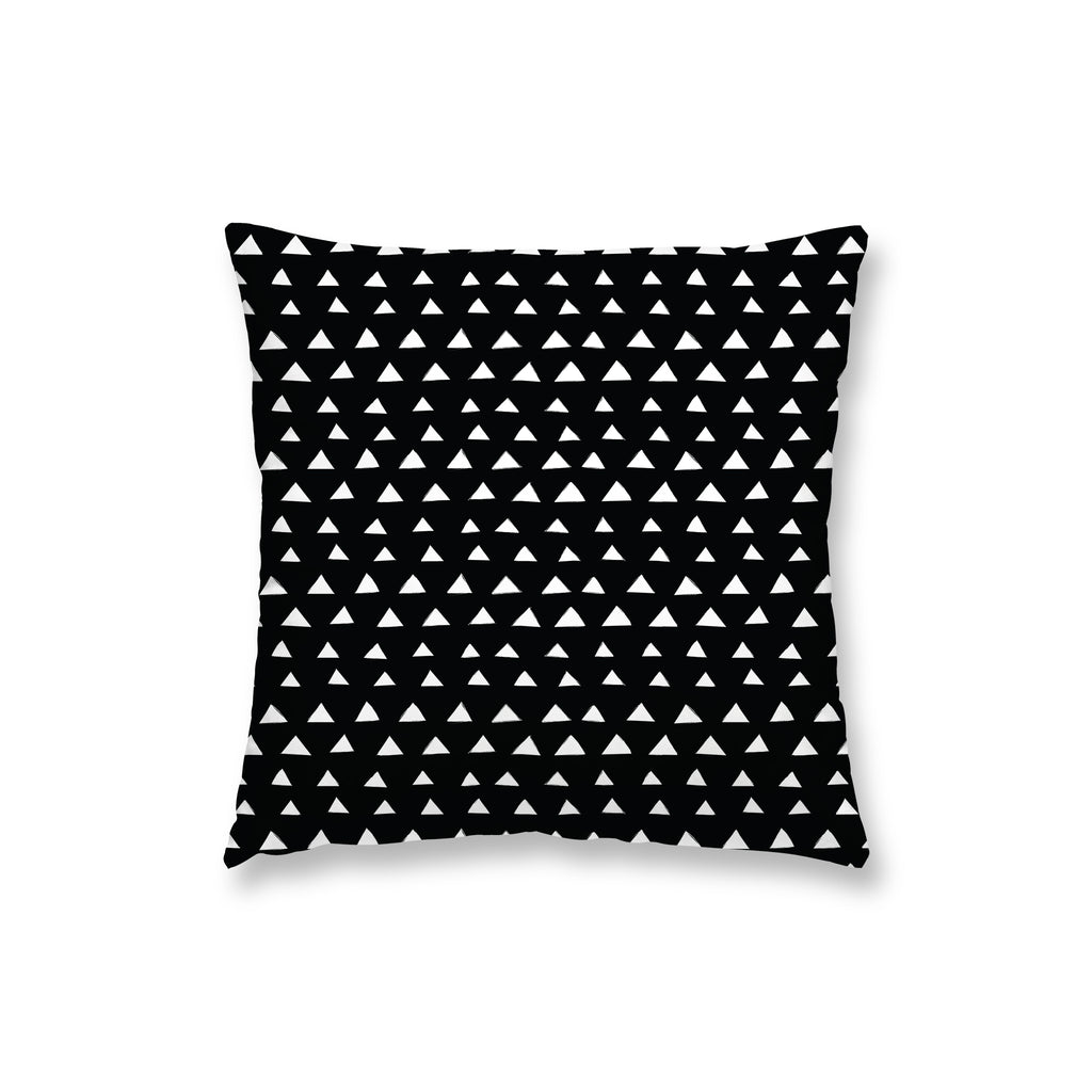 White Triangles Pillow