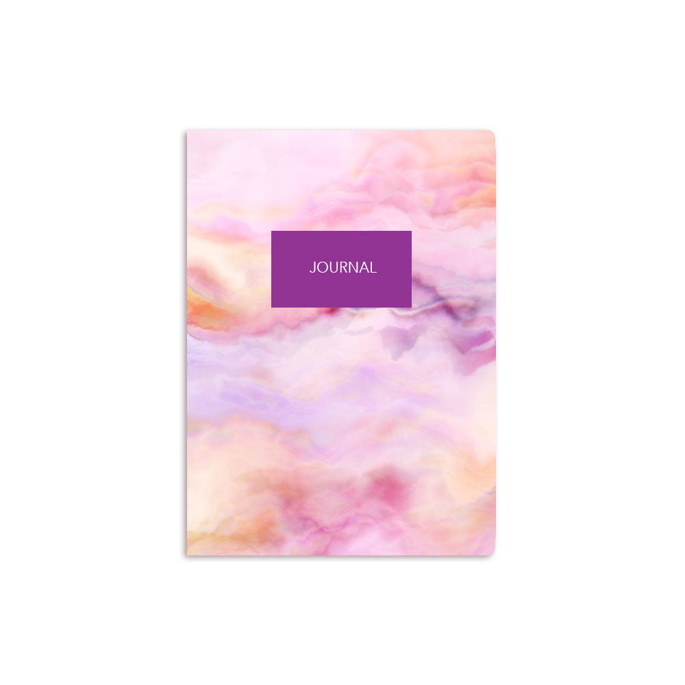 Pink Clouds Notebook Personalised Purple