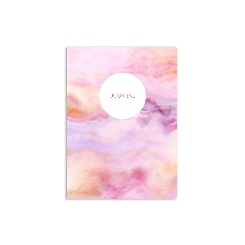 Pink Clouds Notebook Personalised White