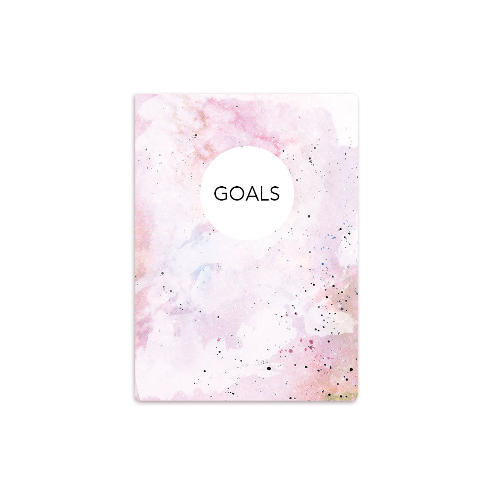 Pink Painted Notbook Personalised White