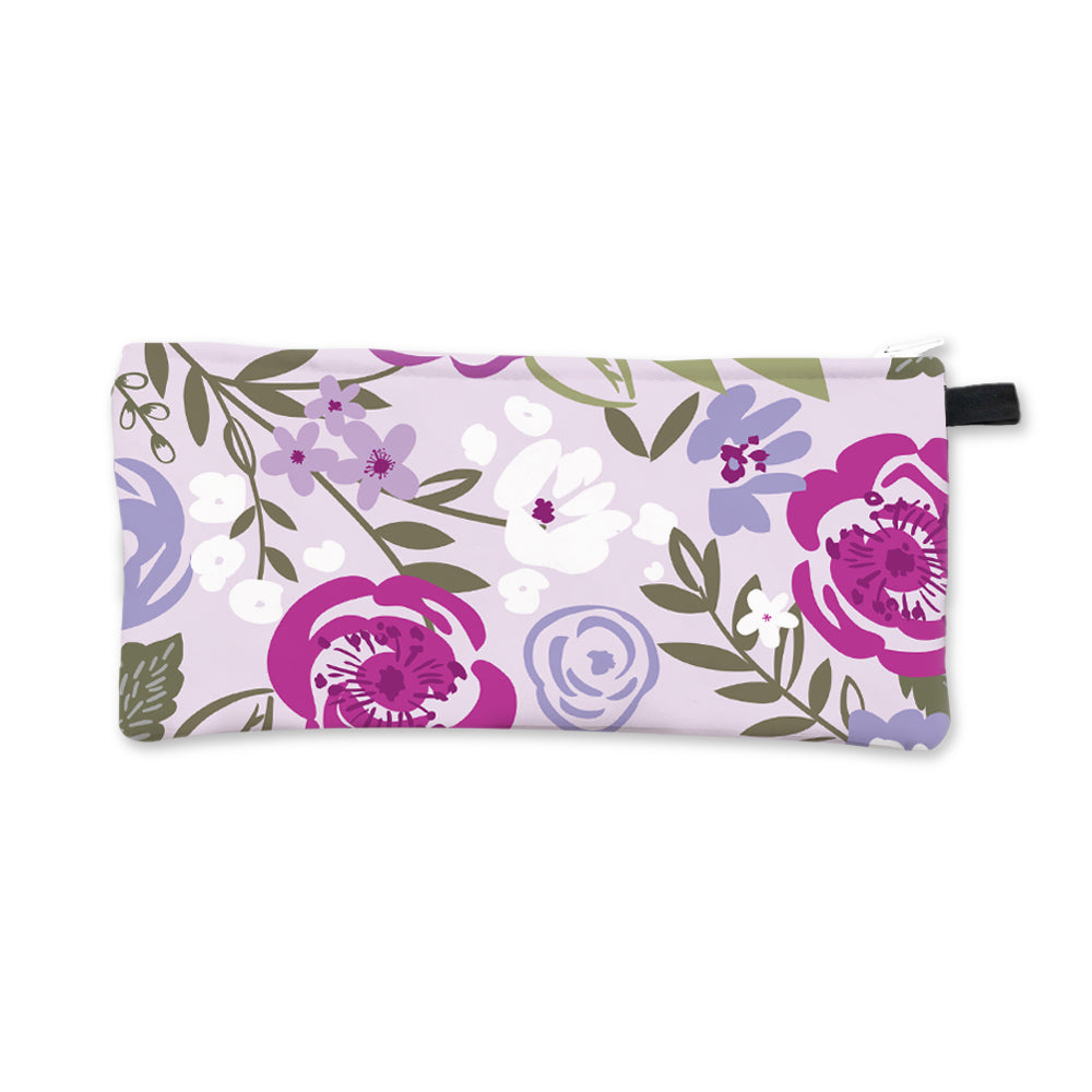 Purple Floral Pencil Case Blank