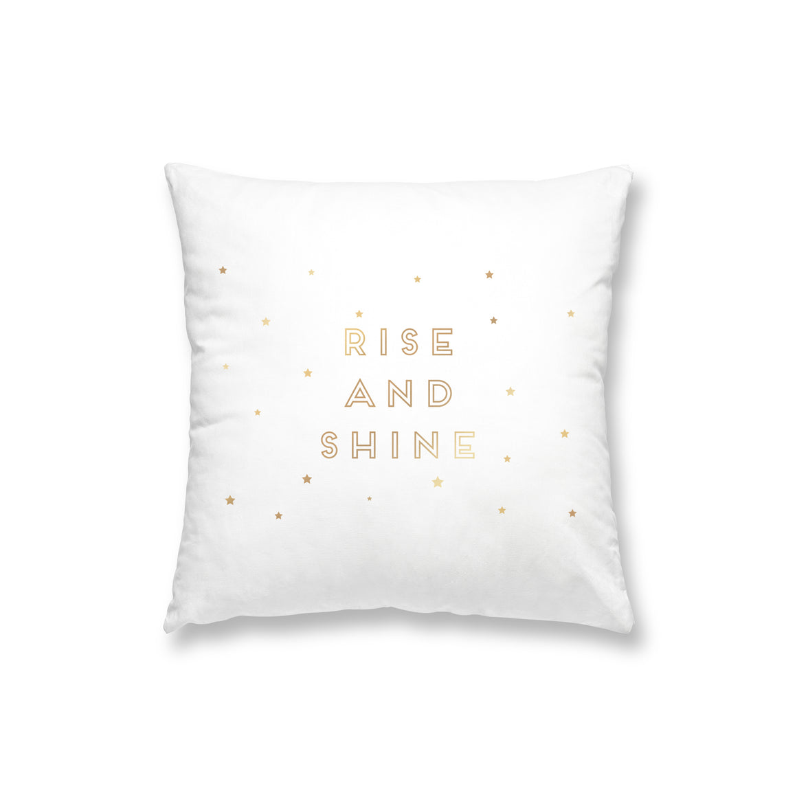 Rise & Shine White Gold Foil Pillow