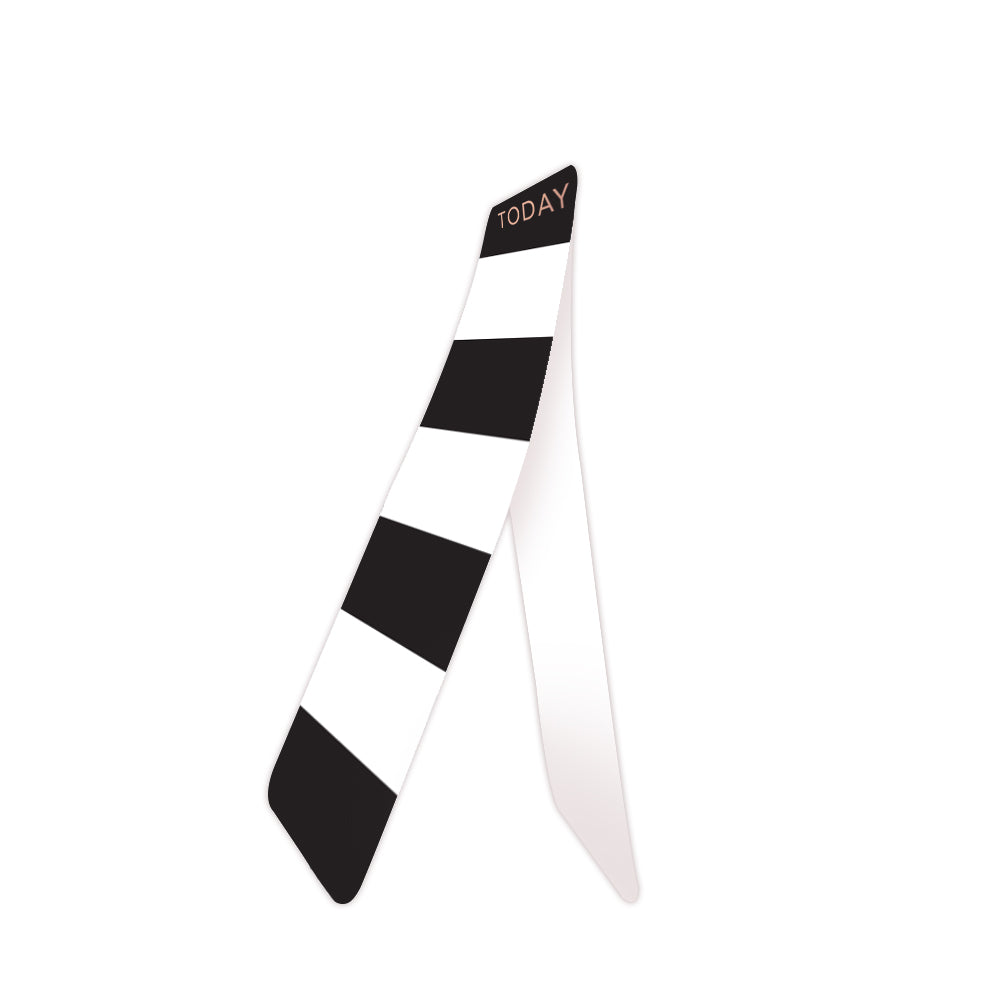 Black Stripes Bookmark Side View
