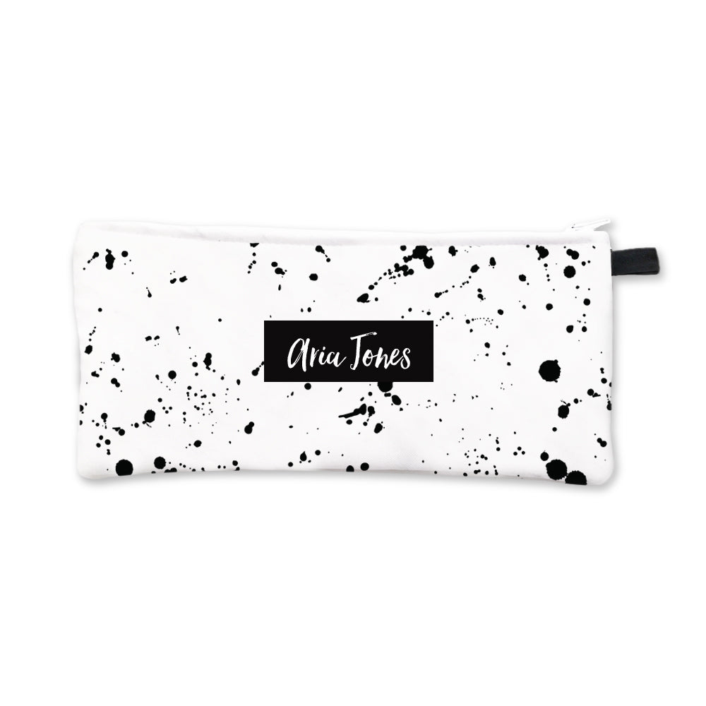 Black Splatter Pencil Case Black Box