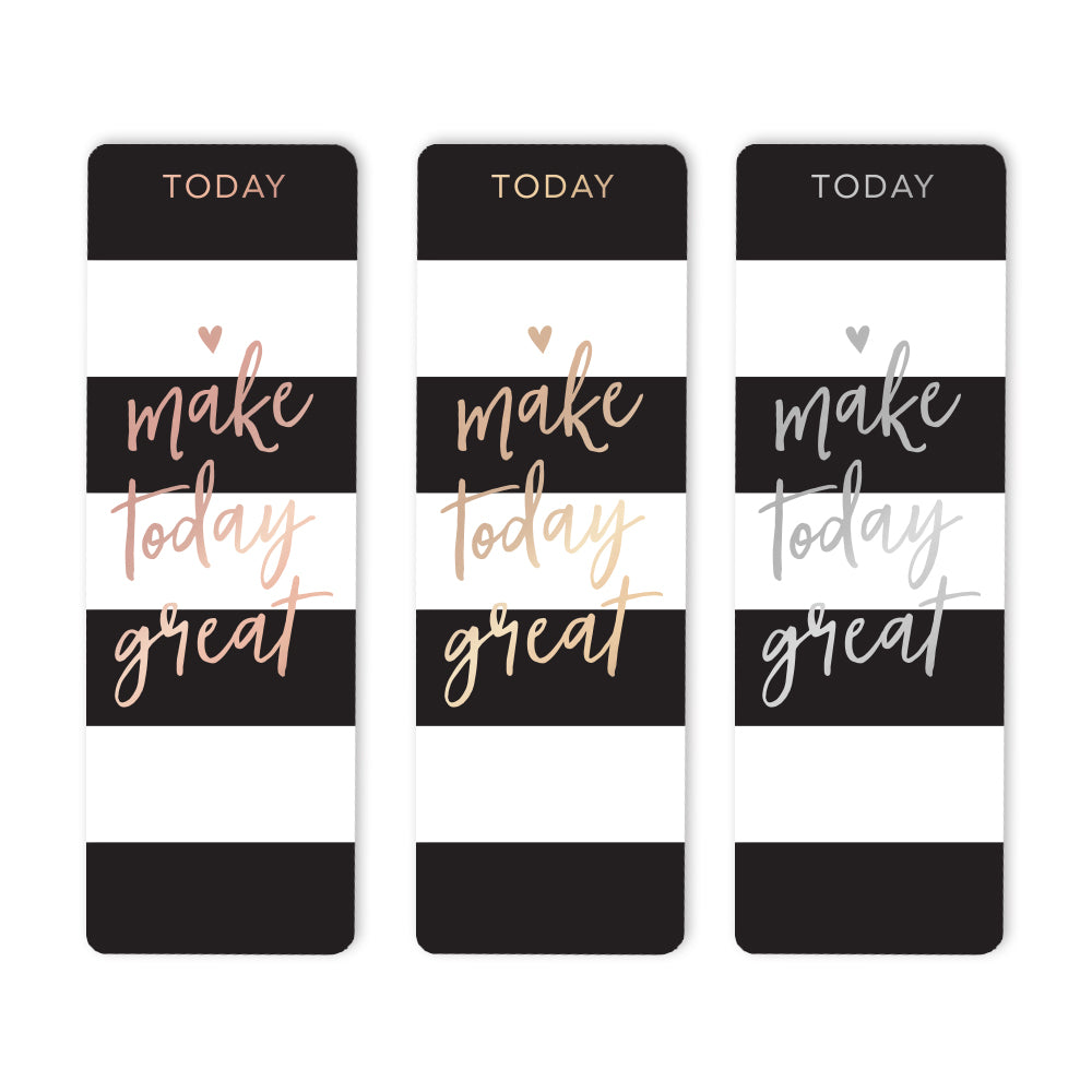 Black Stripes Bookmark Foil Options
