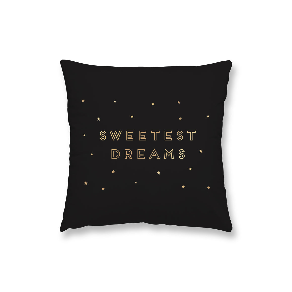 Sweetest Dreams Black Gold Foil Pillow