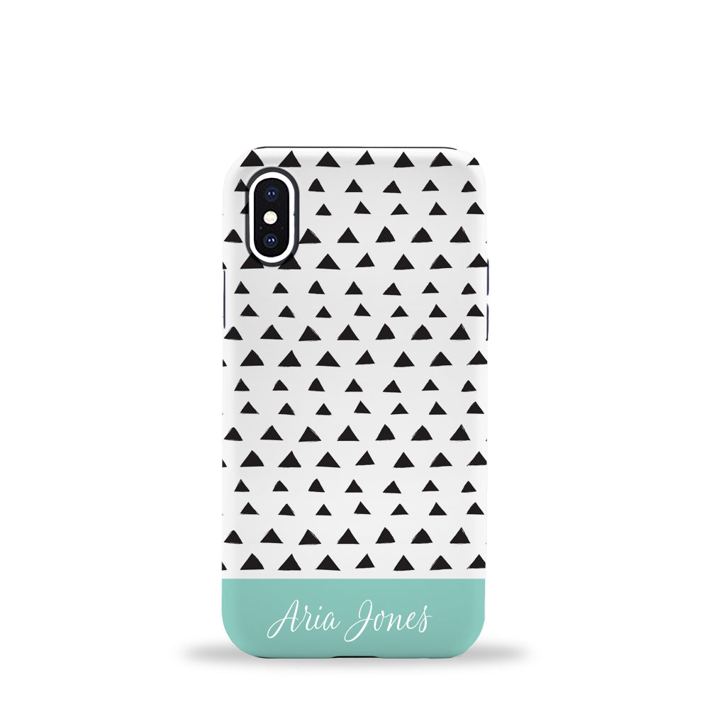 Triangles Phone Case Aqua