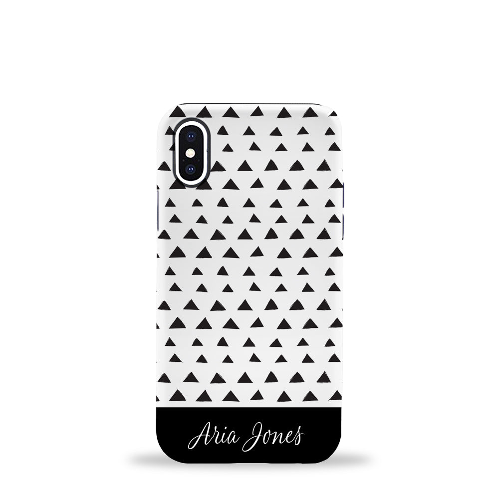 Triangles Phone Case Black