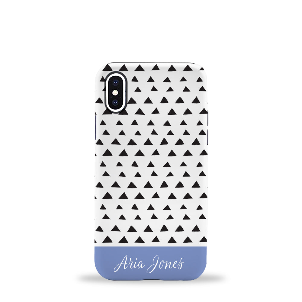 Triangles Phone Case Blue