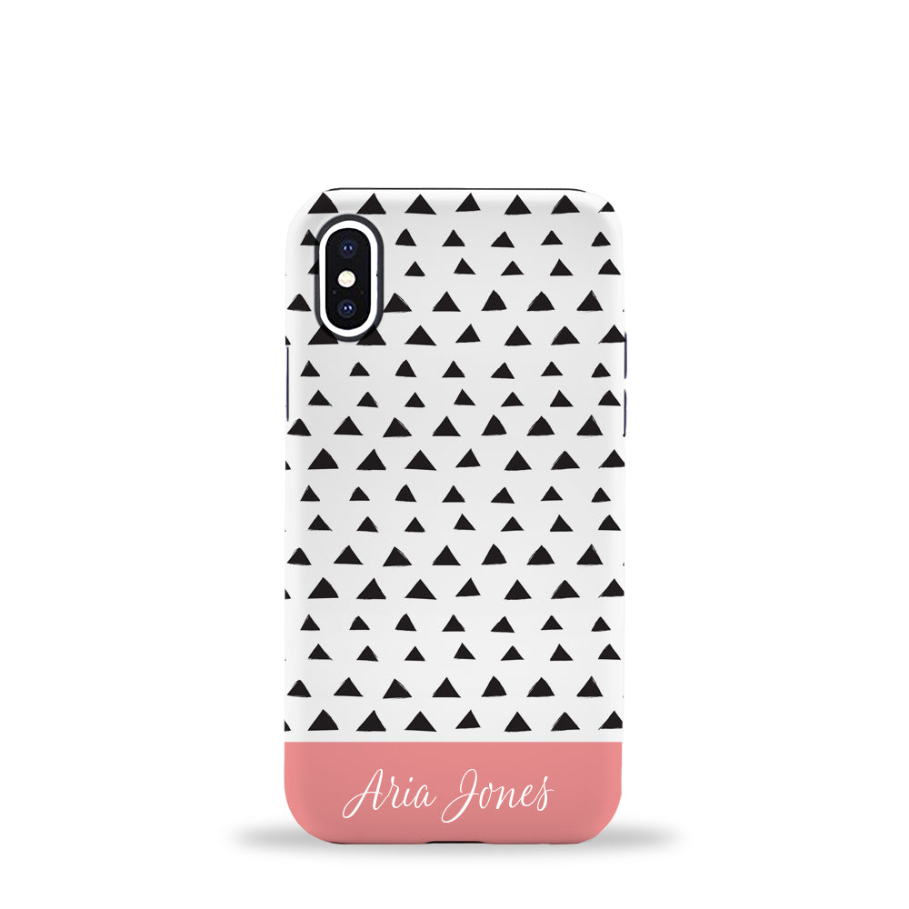 Triangles Phone Case Coral
