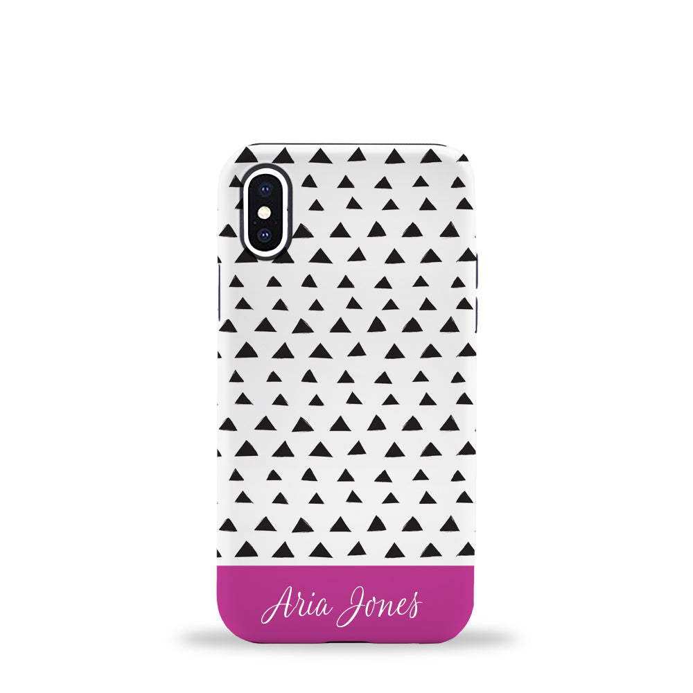 Triangles Phone Case Fuchsia