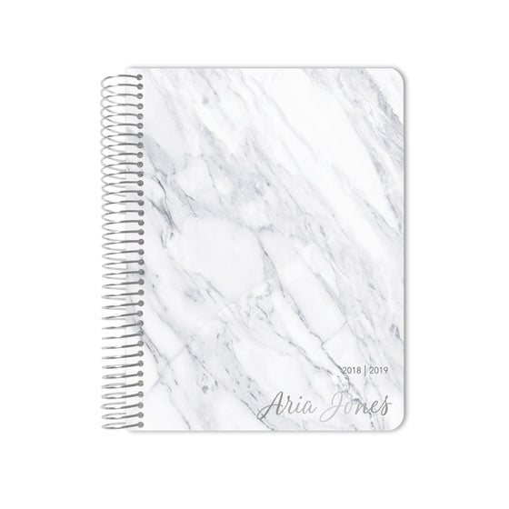 Silver Foil White Marble