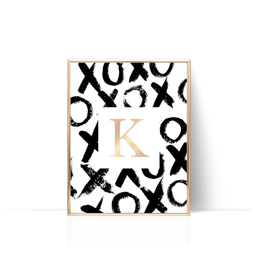 XO Personalized Print Gold Foil