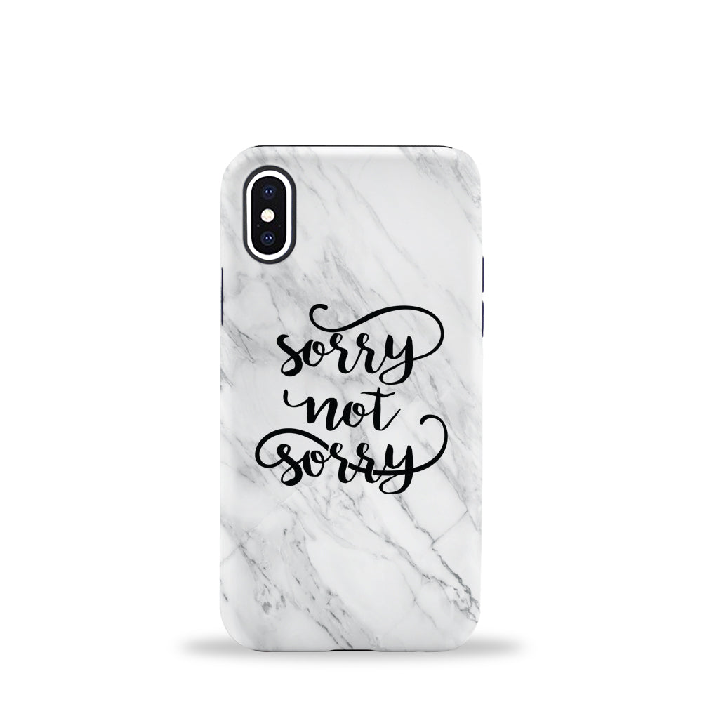 Sorry Marble Phone Case