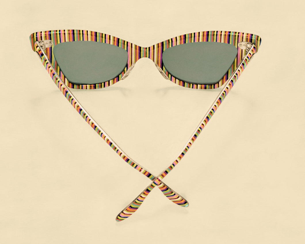 Striped Vintage Ray Bans Artwork