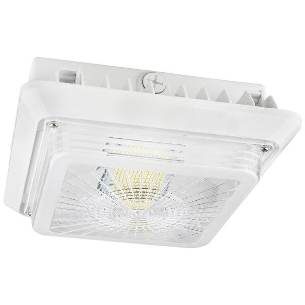 LED Parking Garage Fixture Hale Series | 40Watt | 5200Lm | 5000K | White housing