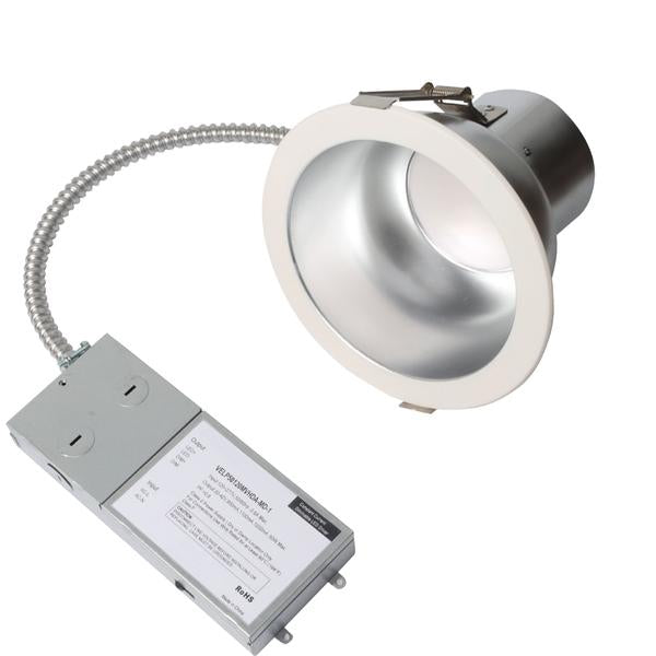 LED Commercial Down Light L20 Series | Fits 8in | 40Watt | up to 4000Lumens | CCT Adjustable 3000K-4000K-5000K