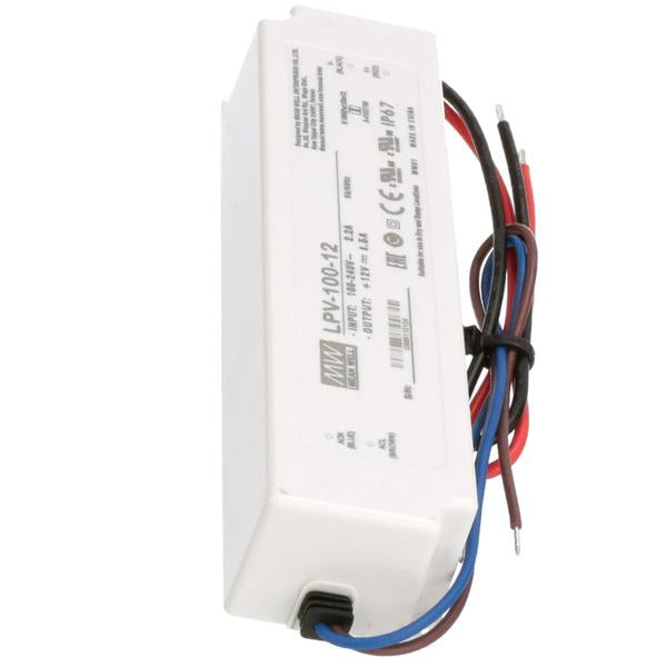 LED Power Supply | 100 Watt | 12 Volt DC | IP67 |  Mean Well LPV-100-12 | 1 Year Warranty