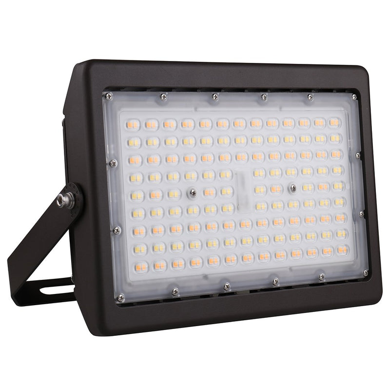 LED Flood Light Atlas Series | 50Watt | 7000Lm | Adjustable CCT 3000K-4000K-5000K | U-Bracket Mount | Bronze housing