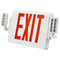 LED Exit & Emergency Light Combo | Single & Double Face | Red Letters | 3.6V Ni-MH Battery | 120-277V | H2 Series