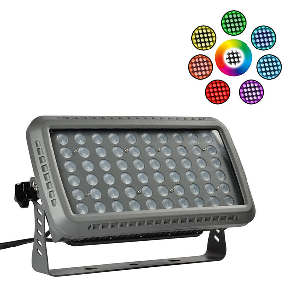 LED Flood Light LSL Series | 100Watt | Beam Angle 36° | RGB | Grey housing - nothingbutleds.com