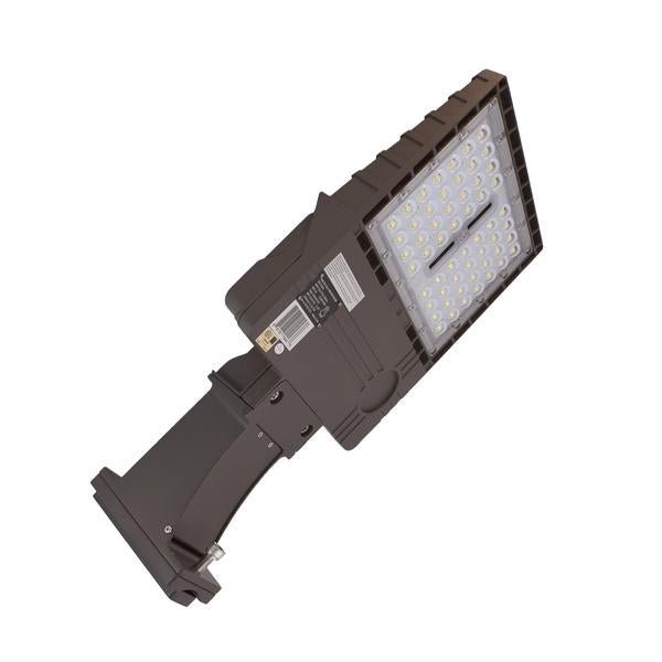 LED Area Light | 150 Watt | 21580 Lumens | 5000k | Straight Arm Mount | Bronze Housing | UL & DLC Listed | 5 Years Warranty| Led Parking Lot Light | Led Street Light