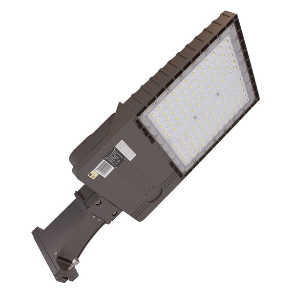 LED Area Light PK Series | 320Watt | 42945Lm | 5000K | Straight Arm Mount | Bronze housing